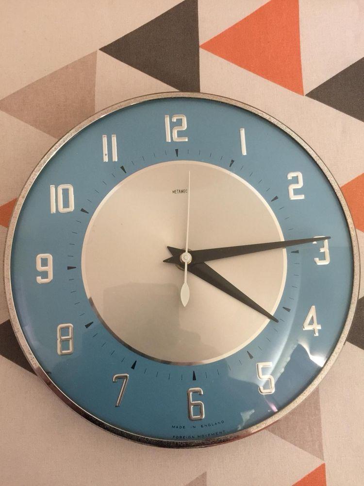 Retro Mid Century Metamec Wall Clock Spares Or Repairs Metamec Retro Mid Century Mid Century Clock Clock