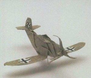 Origami War Plane Me 109