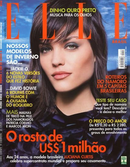 256001e01fc37 Elle Brazil June 2001 luciana Portadas De Vogue, Años 2000, Brasil