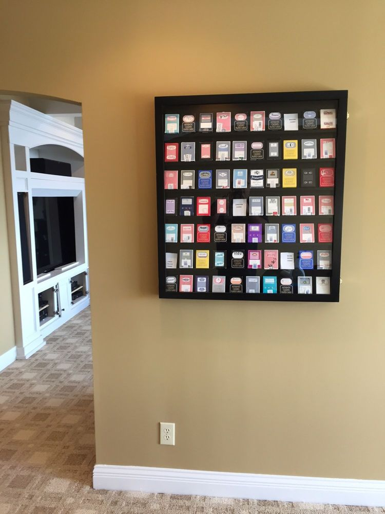 Card Display Case Deep BLK Can Hold up to 60-74 non Graded Baseball ...