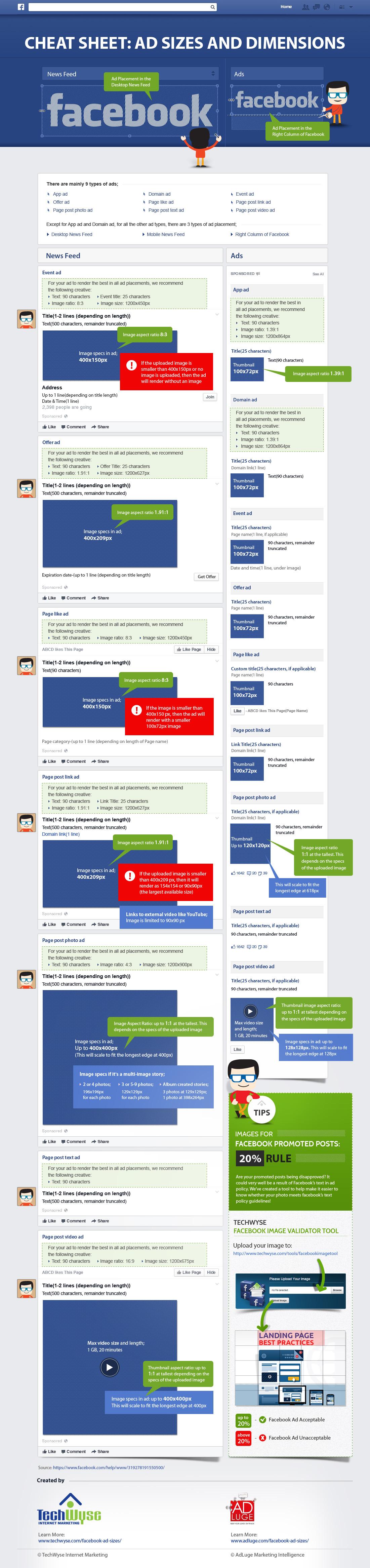 Cheat Sheet: Ad sizes and dimensions - #SocialMedia