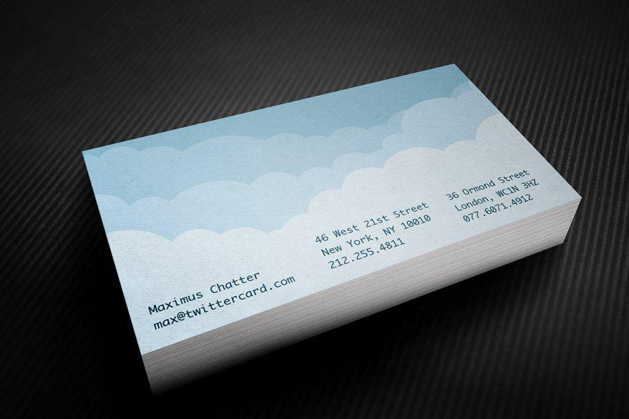 Digital Cloud Business Card Landscaping Business Cards Business Card Template Personal Business Cards
