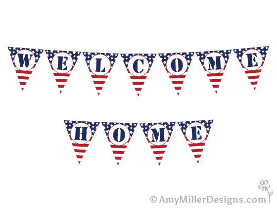 Free Military Welcome Home Printables | Banners, Military ...
