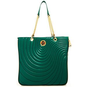 No. 7 Quilt Zip Tote Green, $450, now featured on Fab.