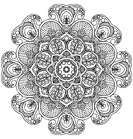 Jesters Zentangle Doodle Drawing Lineart By KathyAhrens