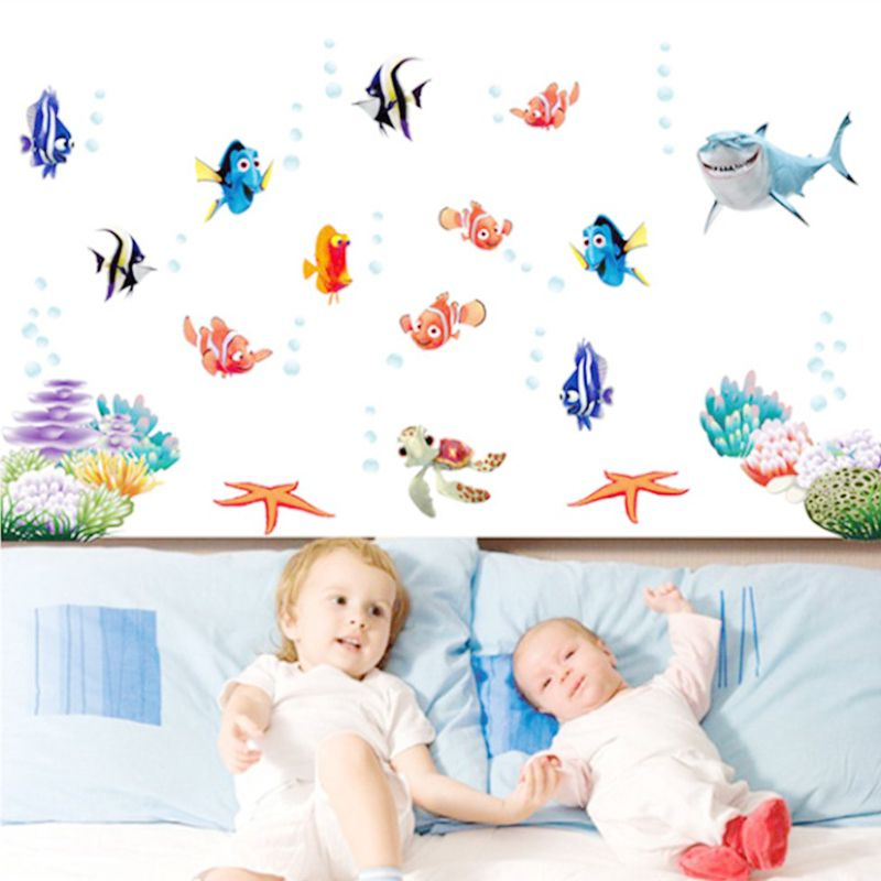 Find Nemo Dory Fish Sealife Wall Stickers For Kids Room Decoration Cartoon  Movie Wall Decals Art