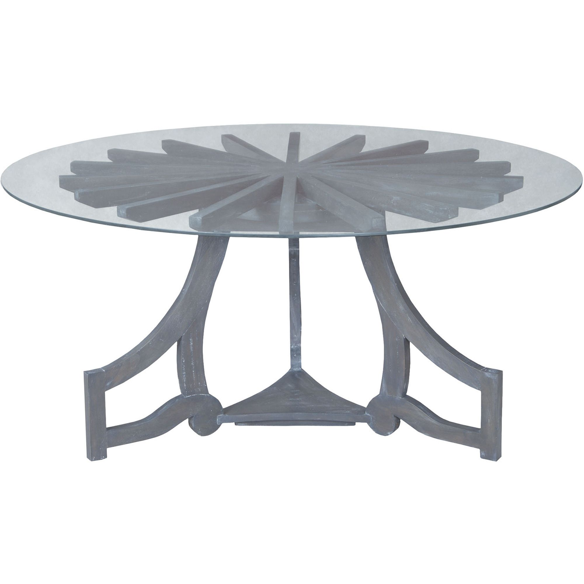 Sunburst Dining Table in Antique Smoke in Gray by Guildmaster - Home Gallery Stores