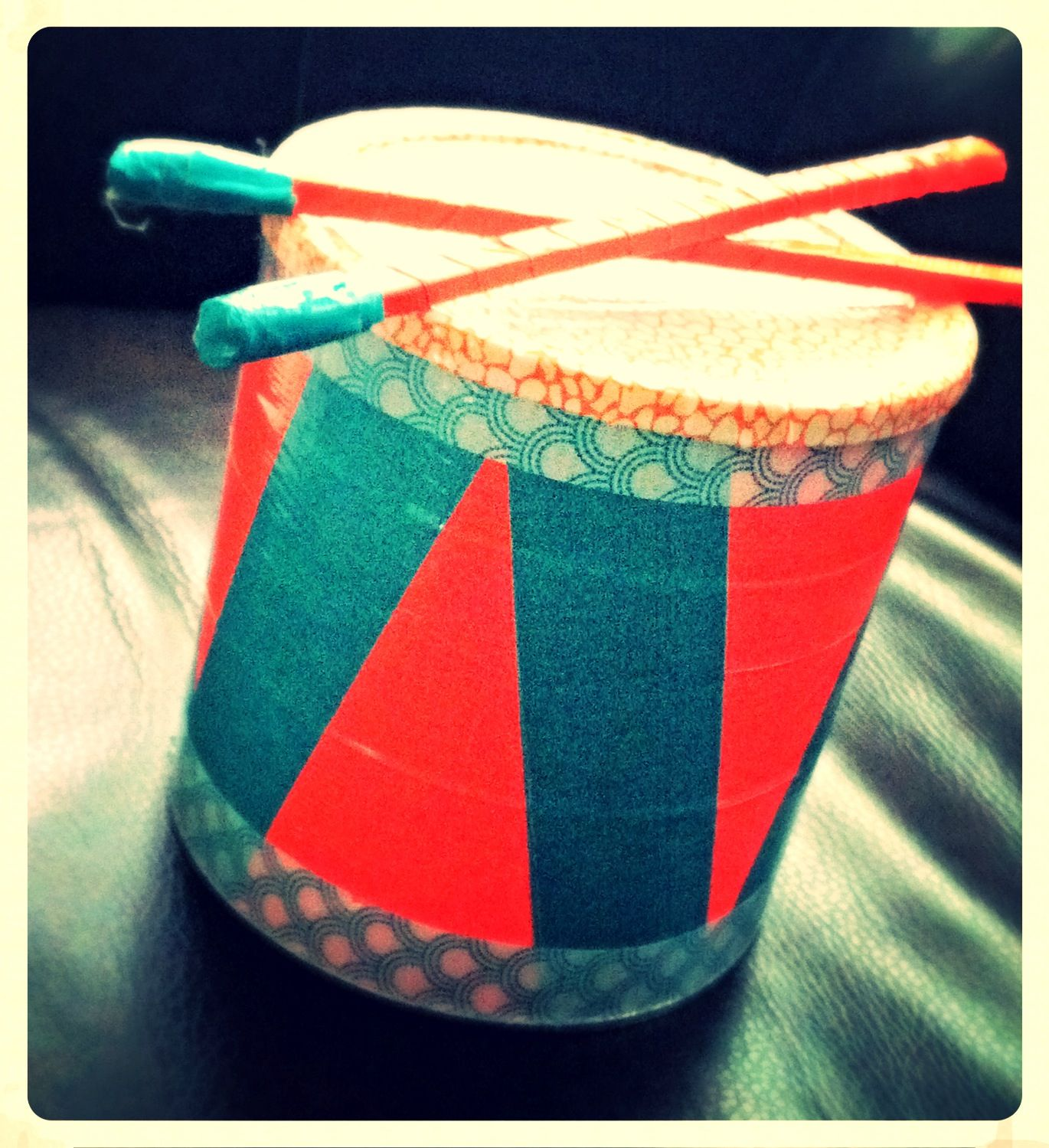 Easy Drum Ornament Craft Toilet Paper Roll
