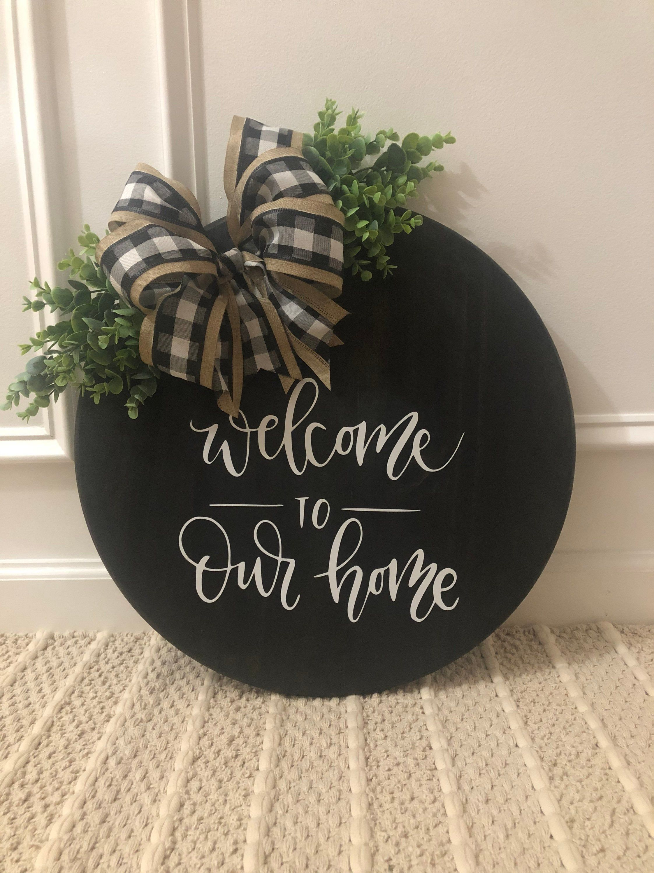 read description fully Wreath addition wooden last name for door wreath wreath not included laser cut last name