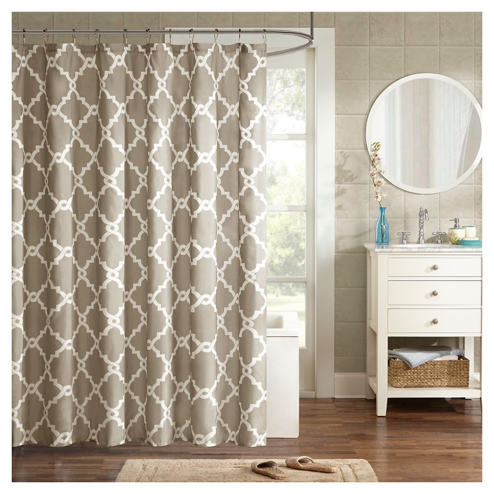 Becker Printed Geometric Shower Curtain