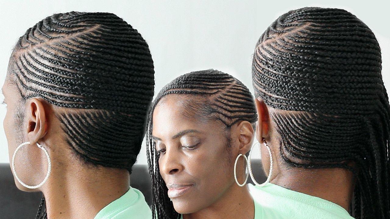 Small Feed In Side Braids Cornrows On Short Natural Hair Natural Hair Styles Braids Hairstyles Pictures Cornrows Braids