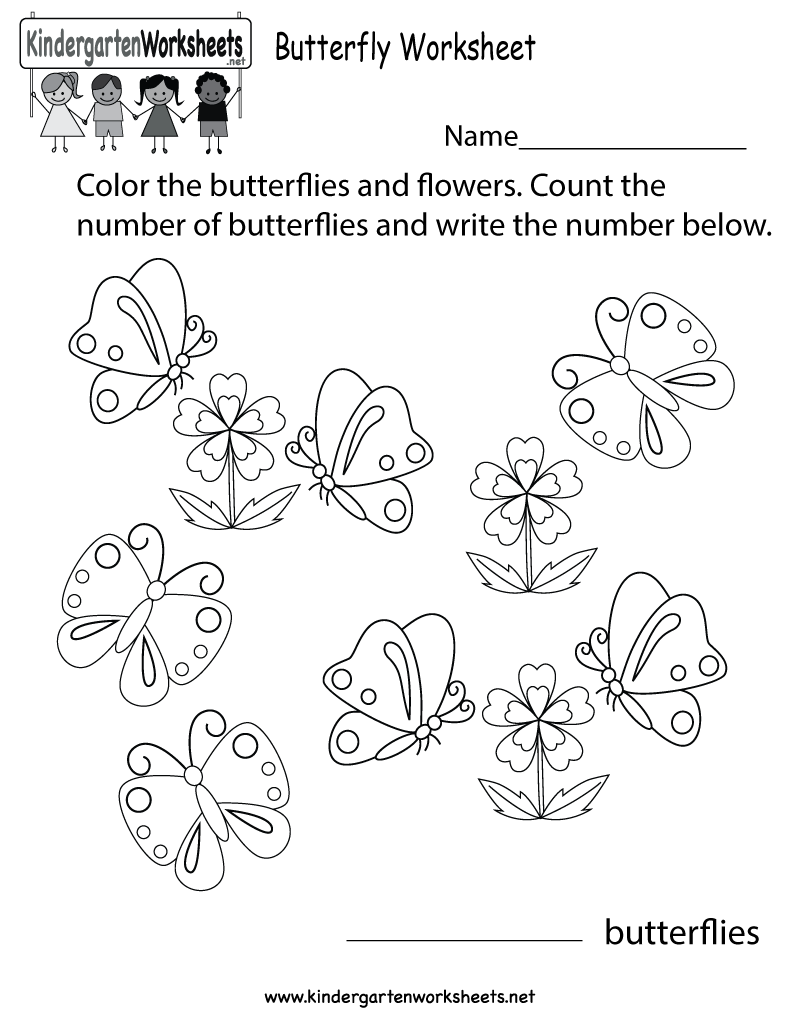 Kids will get to color and count the number of butterflies