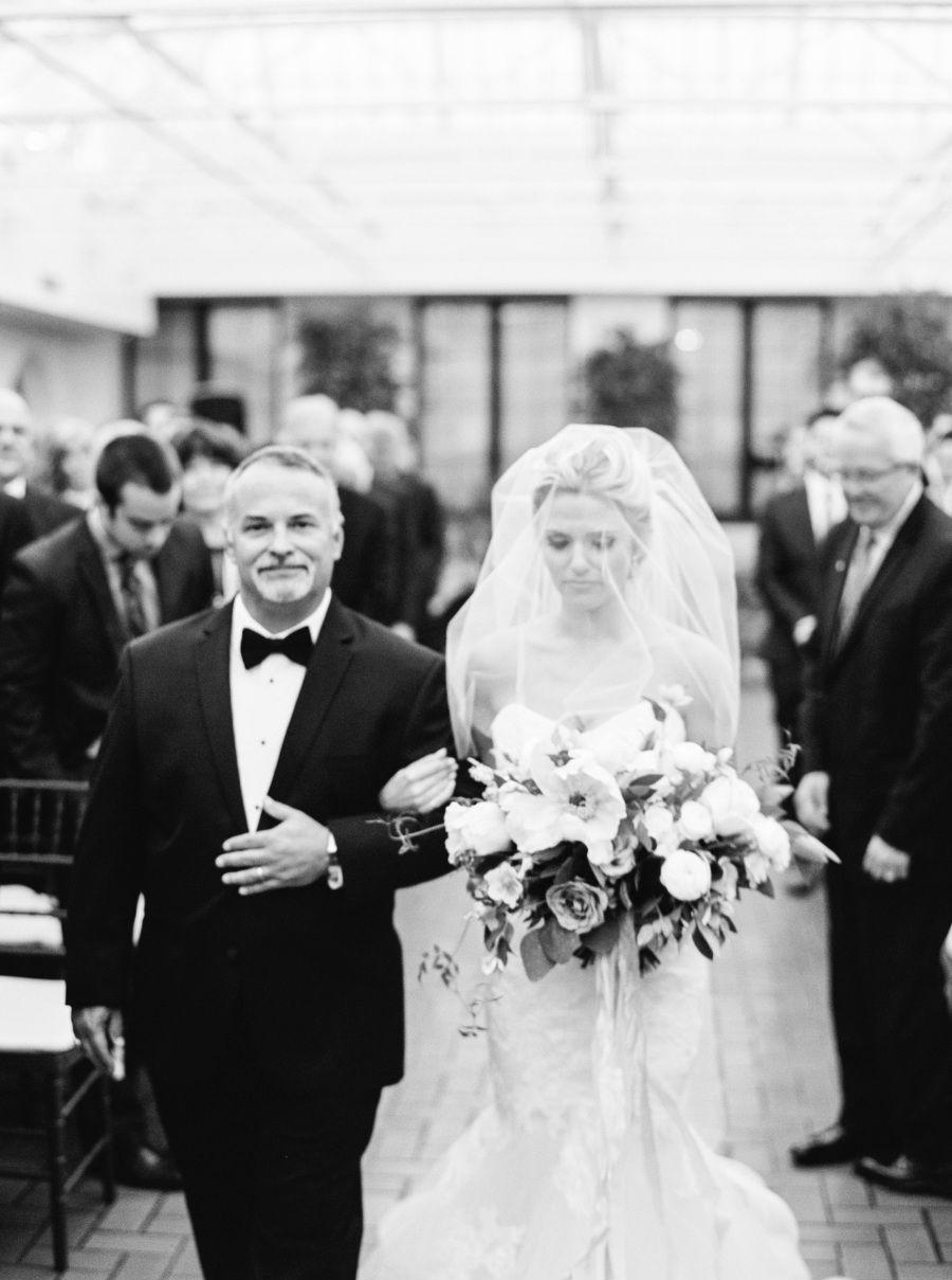 Floral Design: Meg Connelly - http://www.stylemepretty.com/portfolio/meg-connelly Wedding Dress: Monique Lhuillier - http://www.stylemepretty.com/portfolio/monique-lluhillier Bridesmaids' Dresses: Amsale - http://www.stylemepretty.com/portfolio/amsale   Read More on SMP: http://www.stylemepretty.com/2016/04/20/a-whirlwind-hometown-wedding-filled-with-heart/