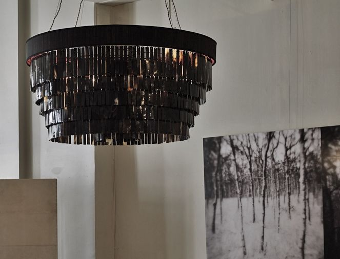 LIGHTING - Chandeliers - Eclipse Horse Hair and Dark Horn Chandelier by Ochre & LIGHTING - Chandeliers - Eclipse Horse Hair and Dark Horn ... azcodes.com