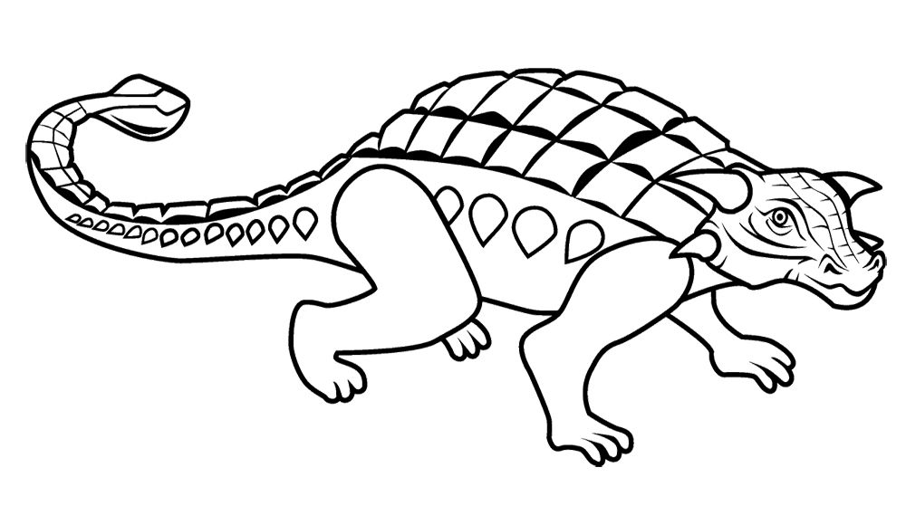 Ankylosaurus Coloring Page Coloring Pages Color Dinosaur