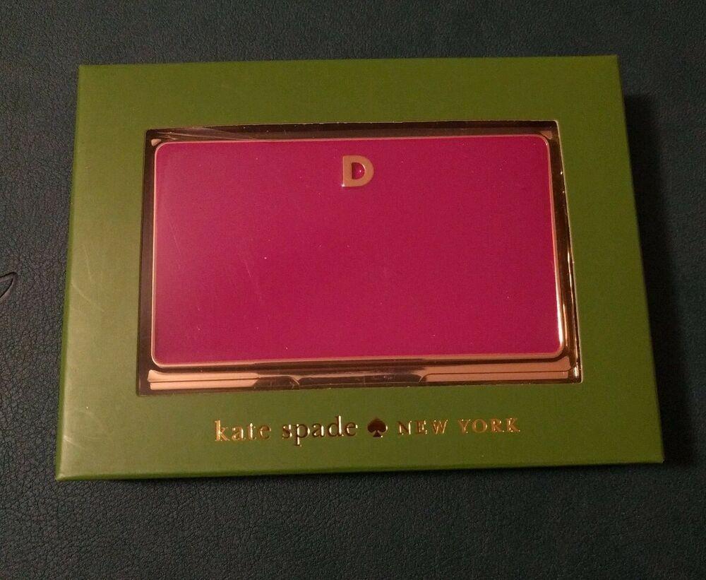 Kate Spade New York One In A Million Business Card Holder Letter D Katespadenewyork Business Card Holders Monogrammed Business Card Holder Letter D