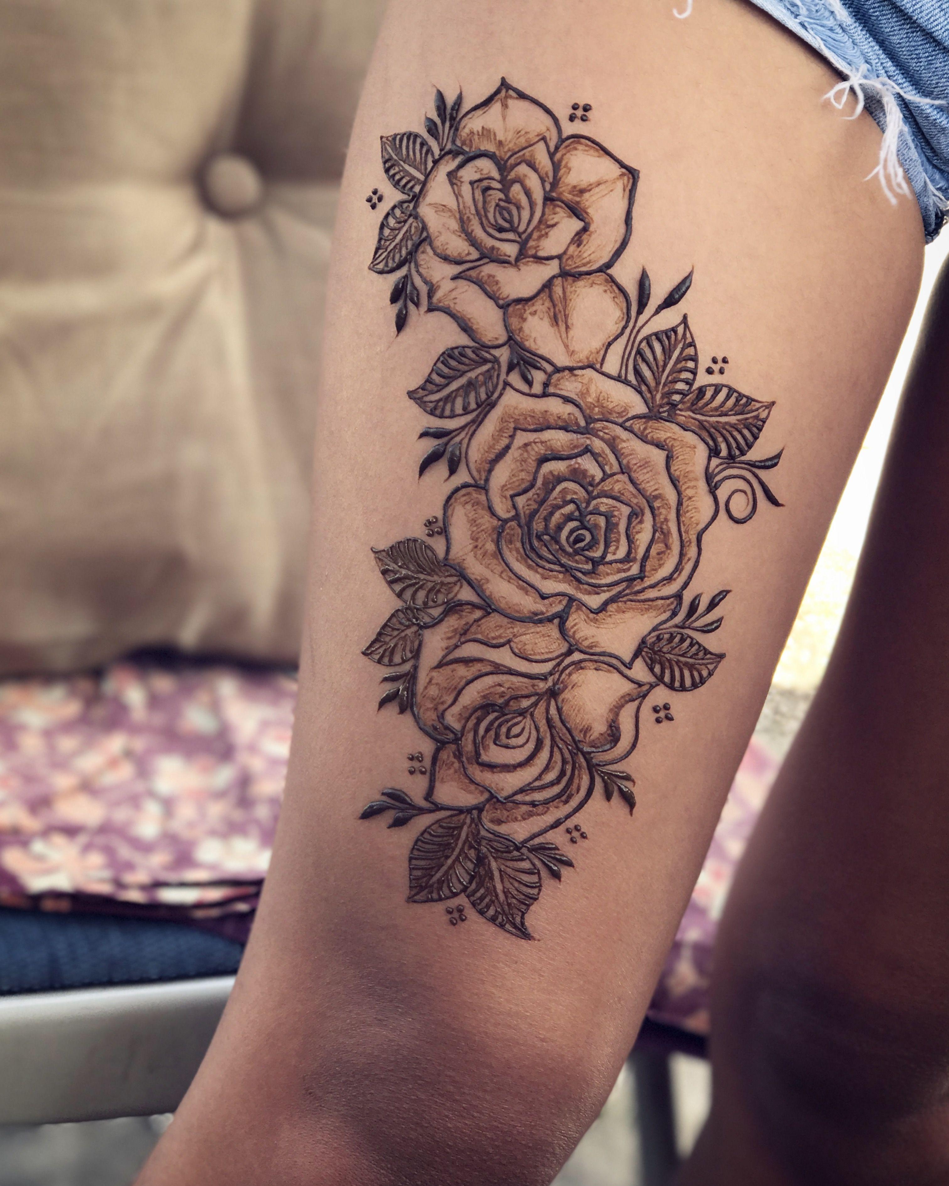 873dd9174 Rose henna tattoo floral henna design Wrist Henna, Leg Henna, Henna Ink,  Foot