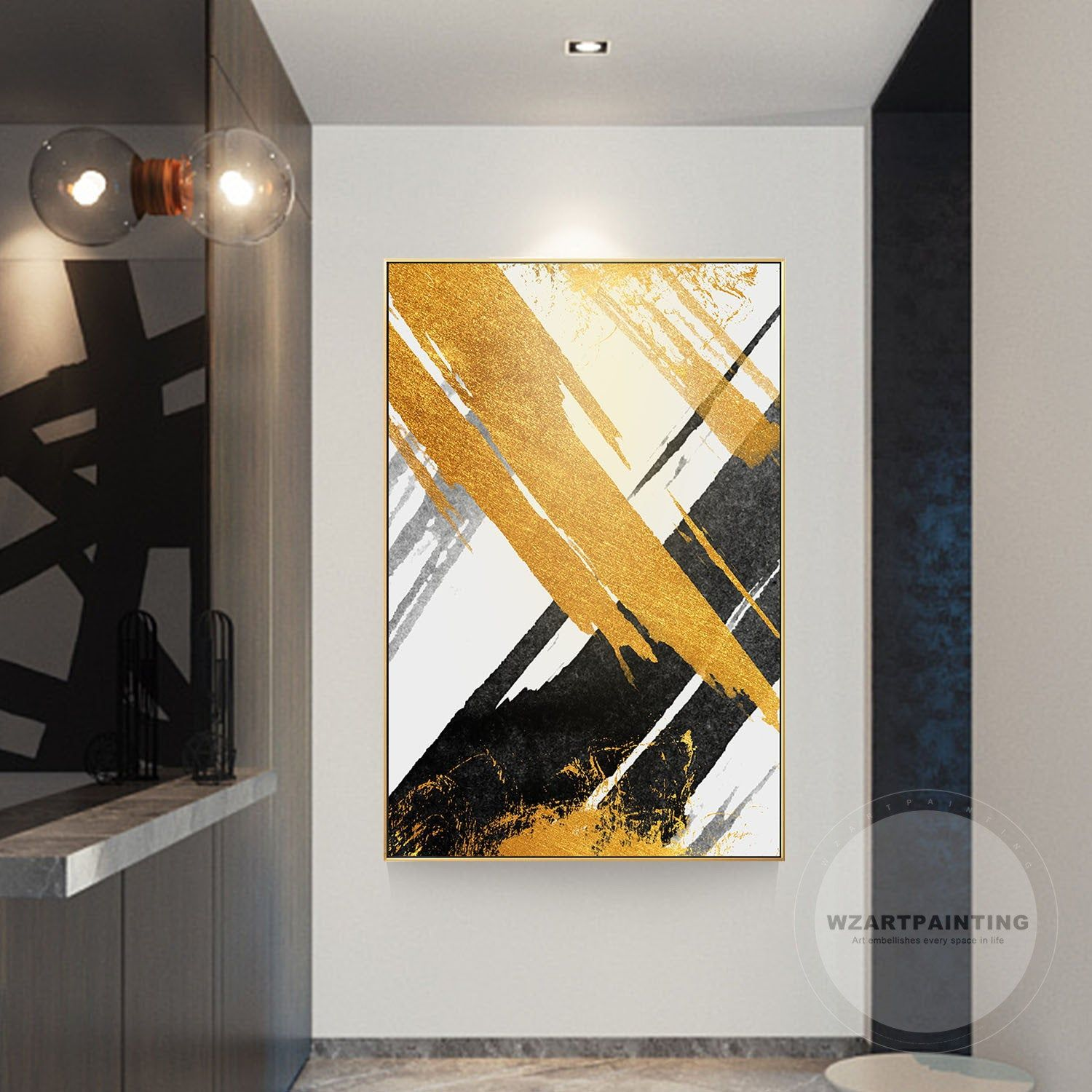 New Abstract Gold Prints Painting On Canvas Digital Prints Luxury Wall Art Picture Framed Ready To Hang For Li Wall Art Pictures Abstract Abstract Art Painting