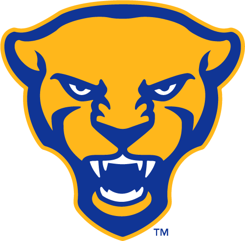 Pittsburgh Panthers Alternate Logo 2019 Pres Panther Head In Yellow And Royal Blue Pittsburgh Panthers Panther Logo Panthers