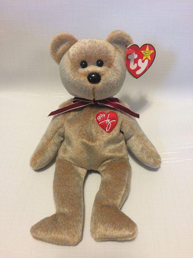 NWT RARE  1999 Signature  Bear Beanie Baby w  Errors   Specialities ... 9278e280e96b
