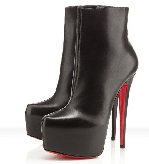 Christian Louboutin Daf Booty 160 Leather Ankle Boots Black Cheap Christian  Louboutin Online for Customers