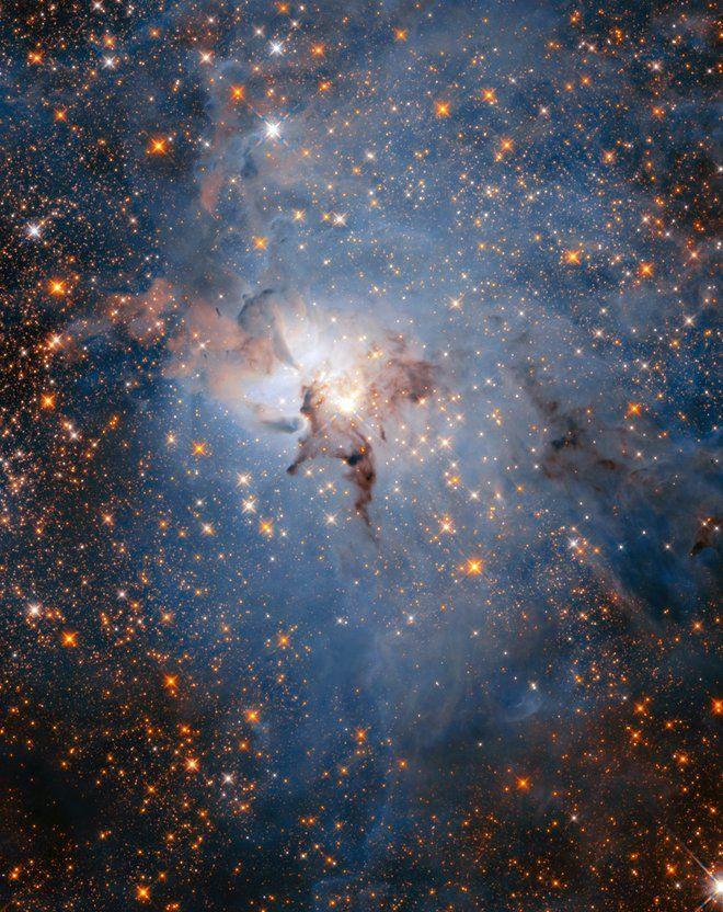 Hubble's Lagoon Nebula in Infrared Hubble telescope, Nebula