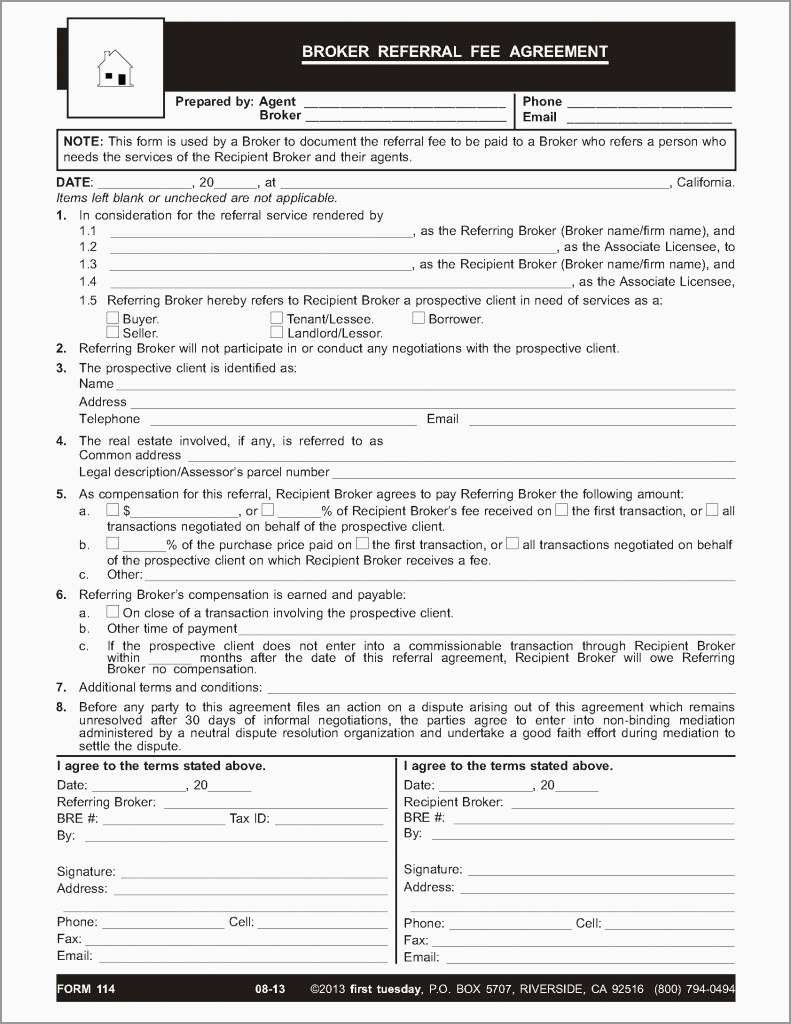 Luxury Free Real Estate Referral Form Template Best Of Template