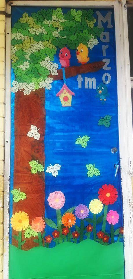 Puerta decorada del mes de marzo puertas decoradas for Puertas decoradas con dinosaurios