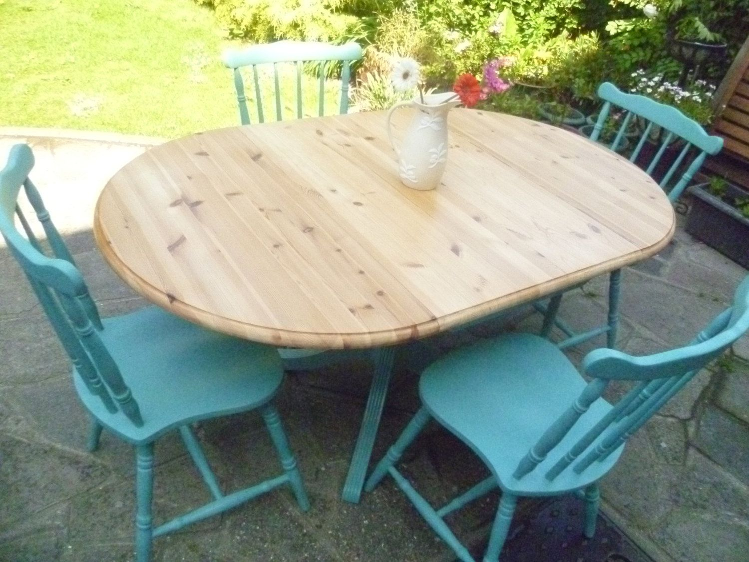 Shabby Chic Solid Pine Drop Leaf Dining / Kitchen by SunflowerLou ...