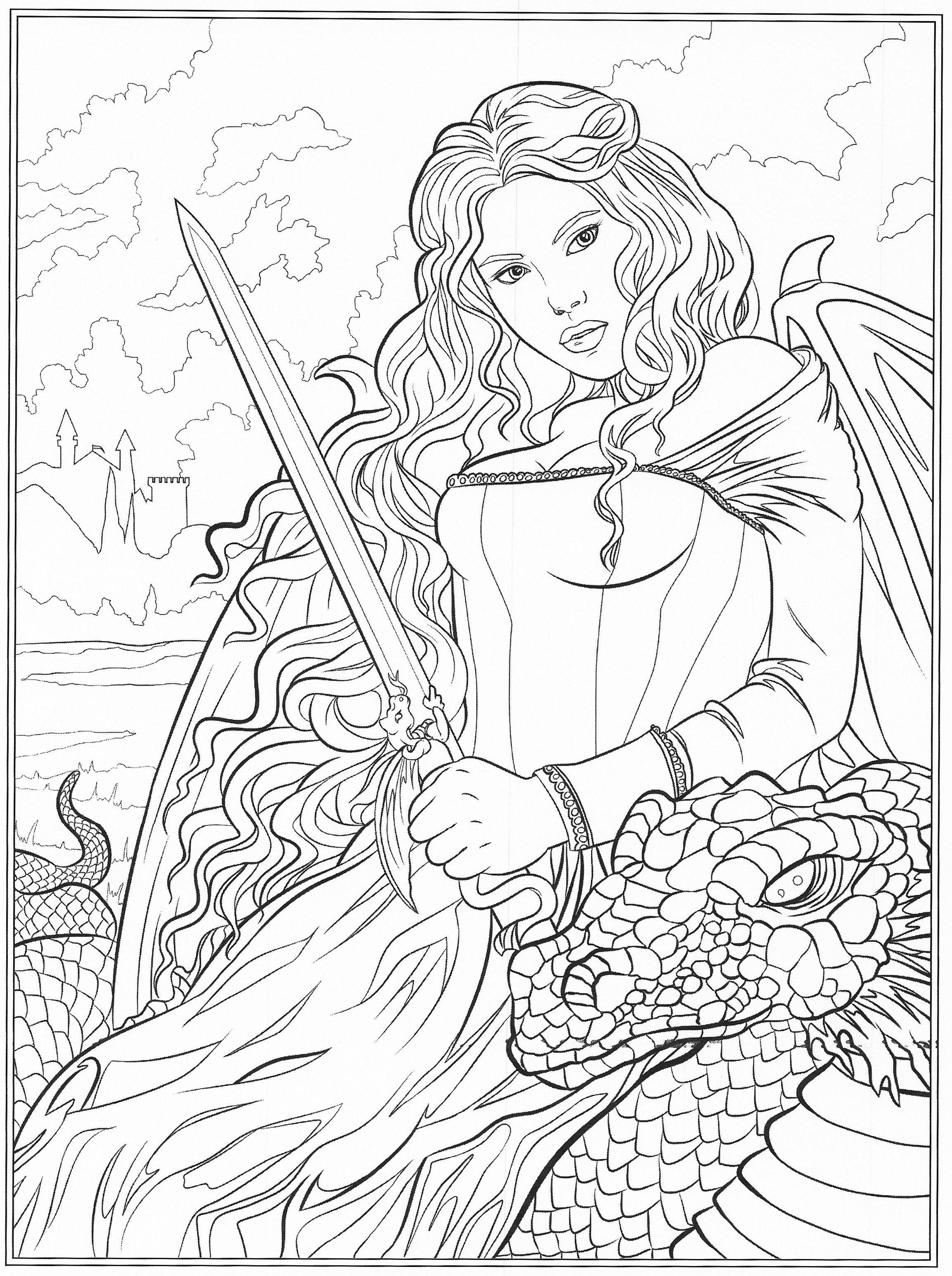 Gothic Dark Dark Fantasy Coloring Pages - NECRAZYSTAMPERCOM