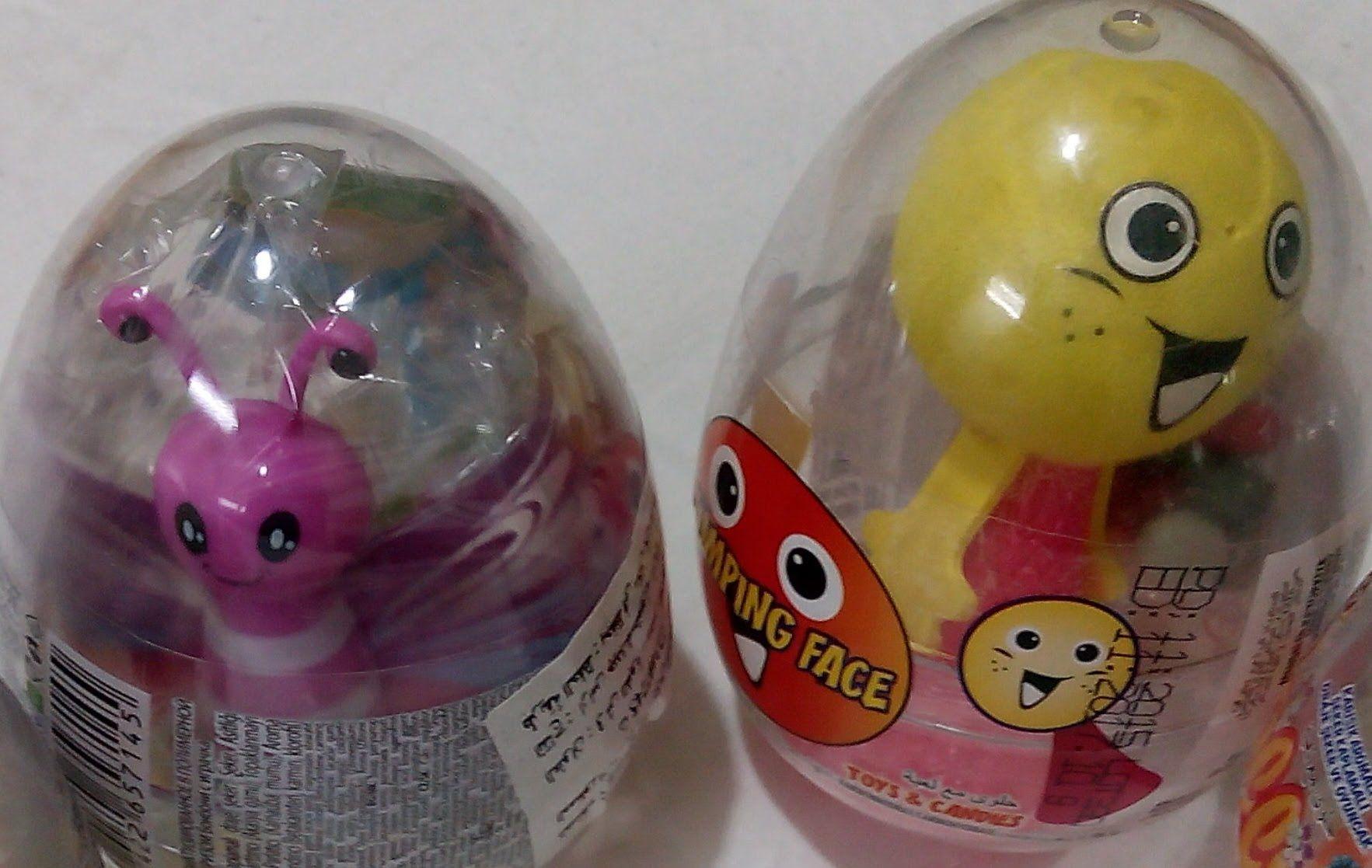 4 بيضة المفاجآت الشفافة بيض المفاجآت العاب بنات و أولاد Lemonade Food Bottle