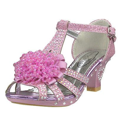 Girls high heel shoes, Pink dress shoes