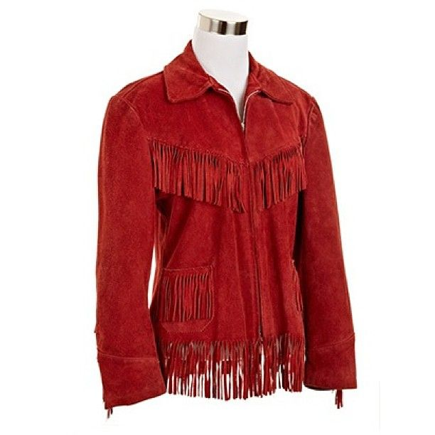 K-Bar-Z 1950's Red Fringed Suede Jacket | NiftyThrifty - Rare Finds Everyday
