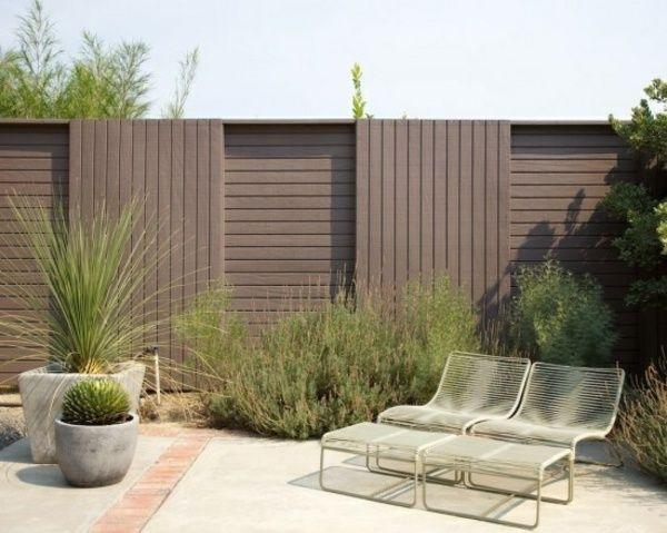 Sichtschutz Zaun Pflanzen Metall Mobel Gartenparawent Garten