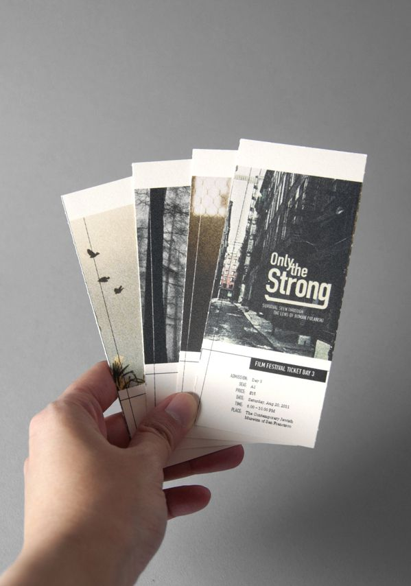 my school project: tickets for the film festival