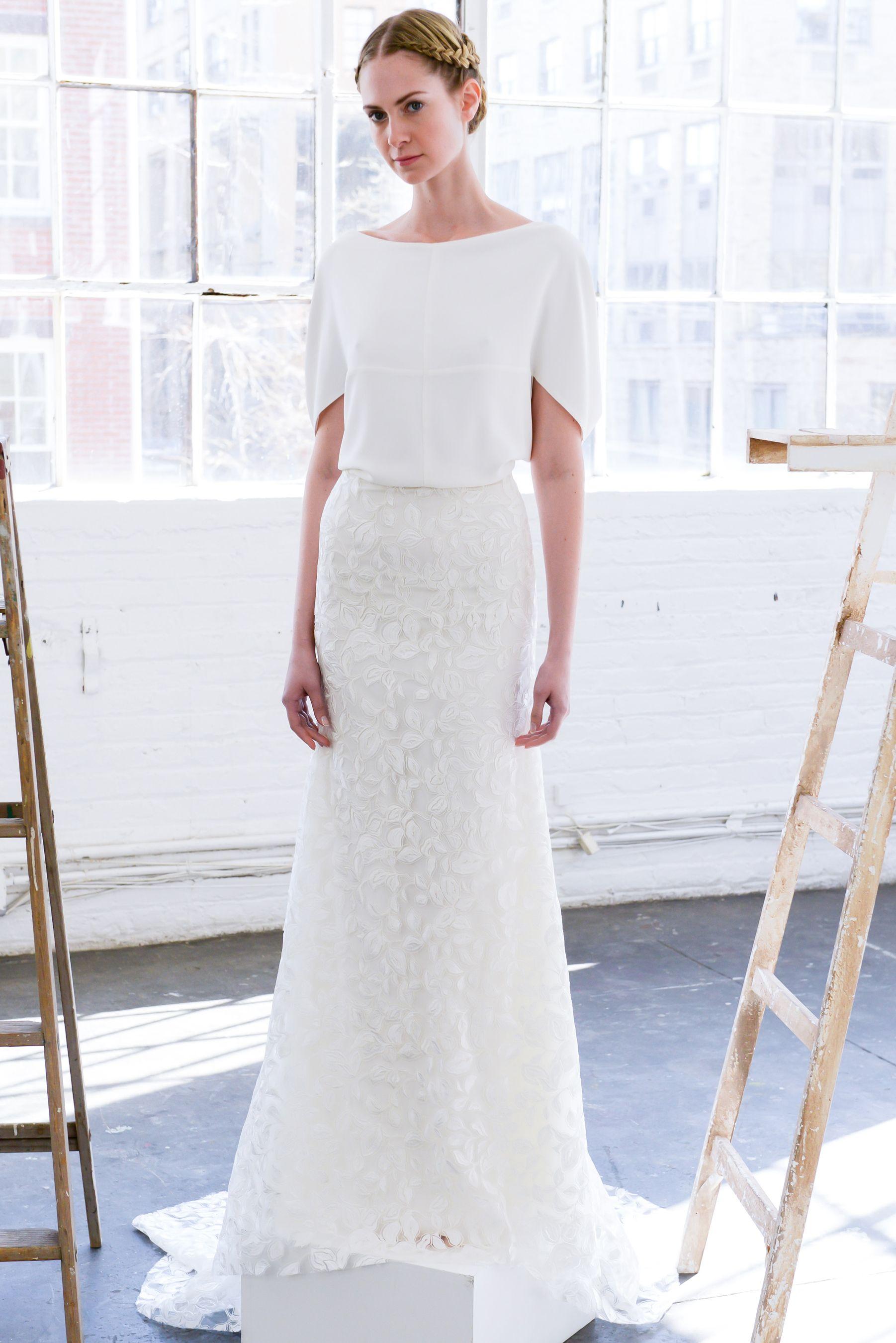 Simple Wedding Dresses From Fall  Bridal Week  Lela rose