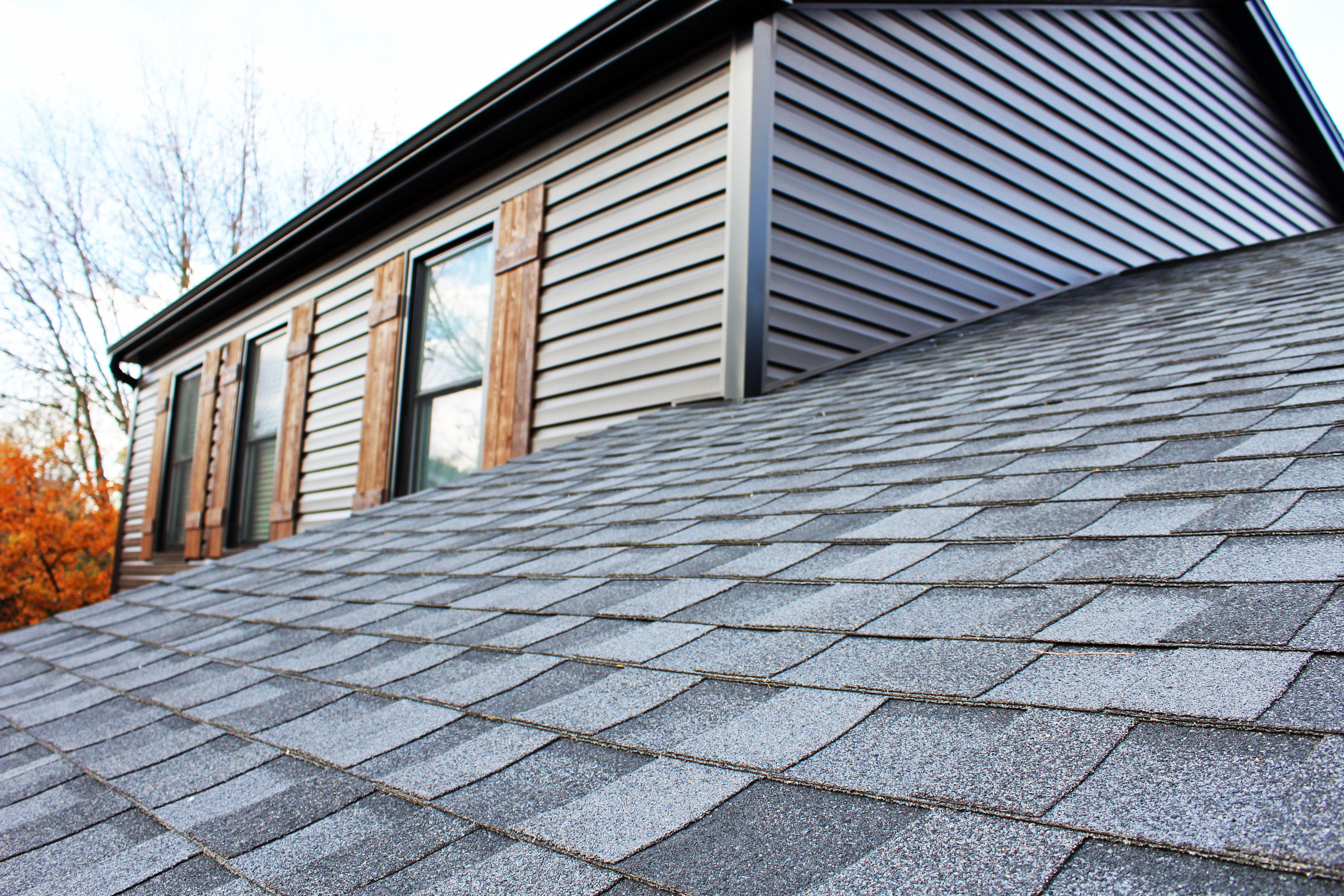 Roof Certainteed Landmark Pro Moire Black Siding Certainteed Monogram Slate Gutters Soffit Fascia Black Shingle Colors Roofing Home Remodeling