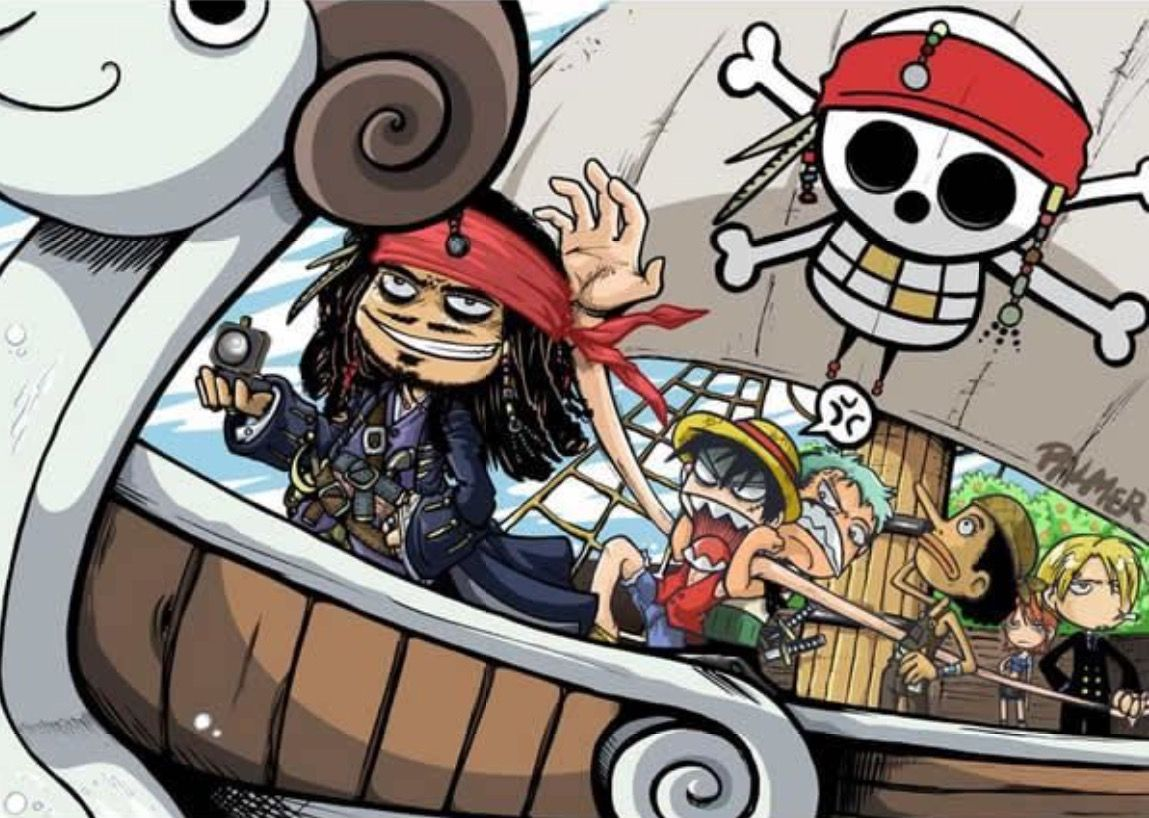 One Piece and Pirates of the Carribean