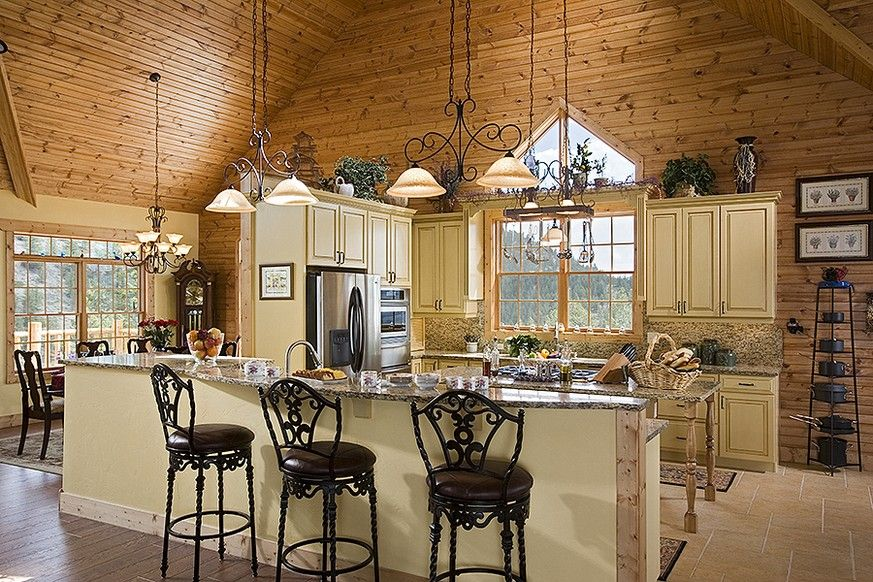 huge log cabin kitchens kitchen cabinets gallery home beautiful