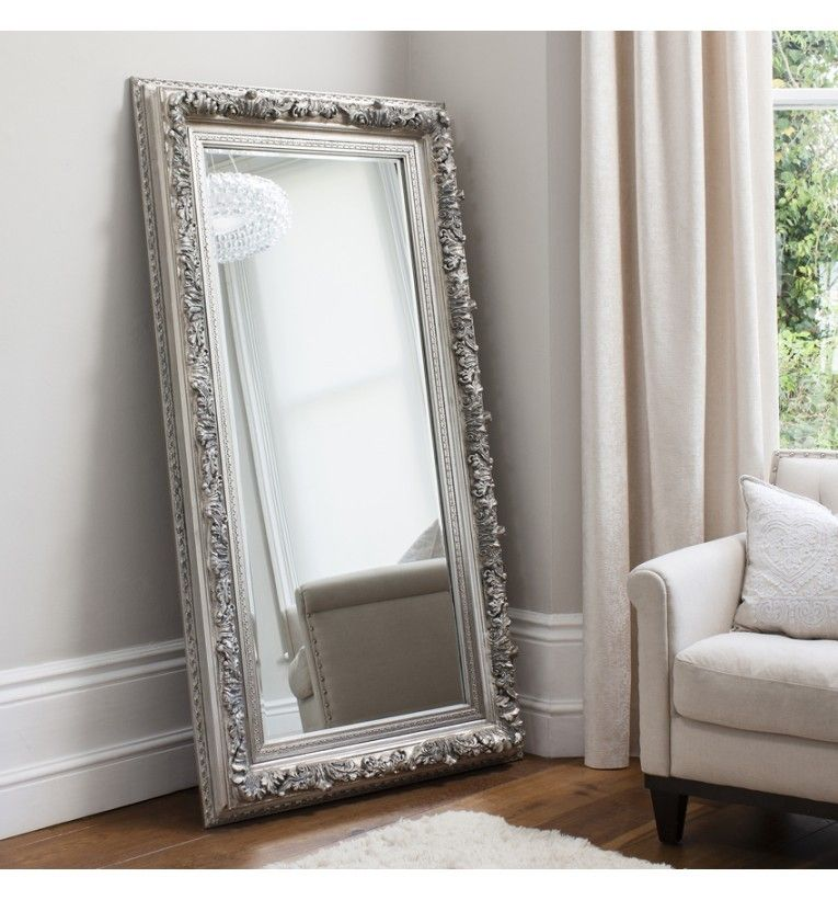 Antwerp Leaner Mirror Silver French Style Mirrors Silver Leaner Mirror Leaner Mirror French Style Mirrors Mirror Decor