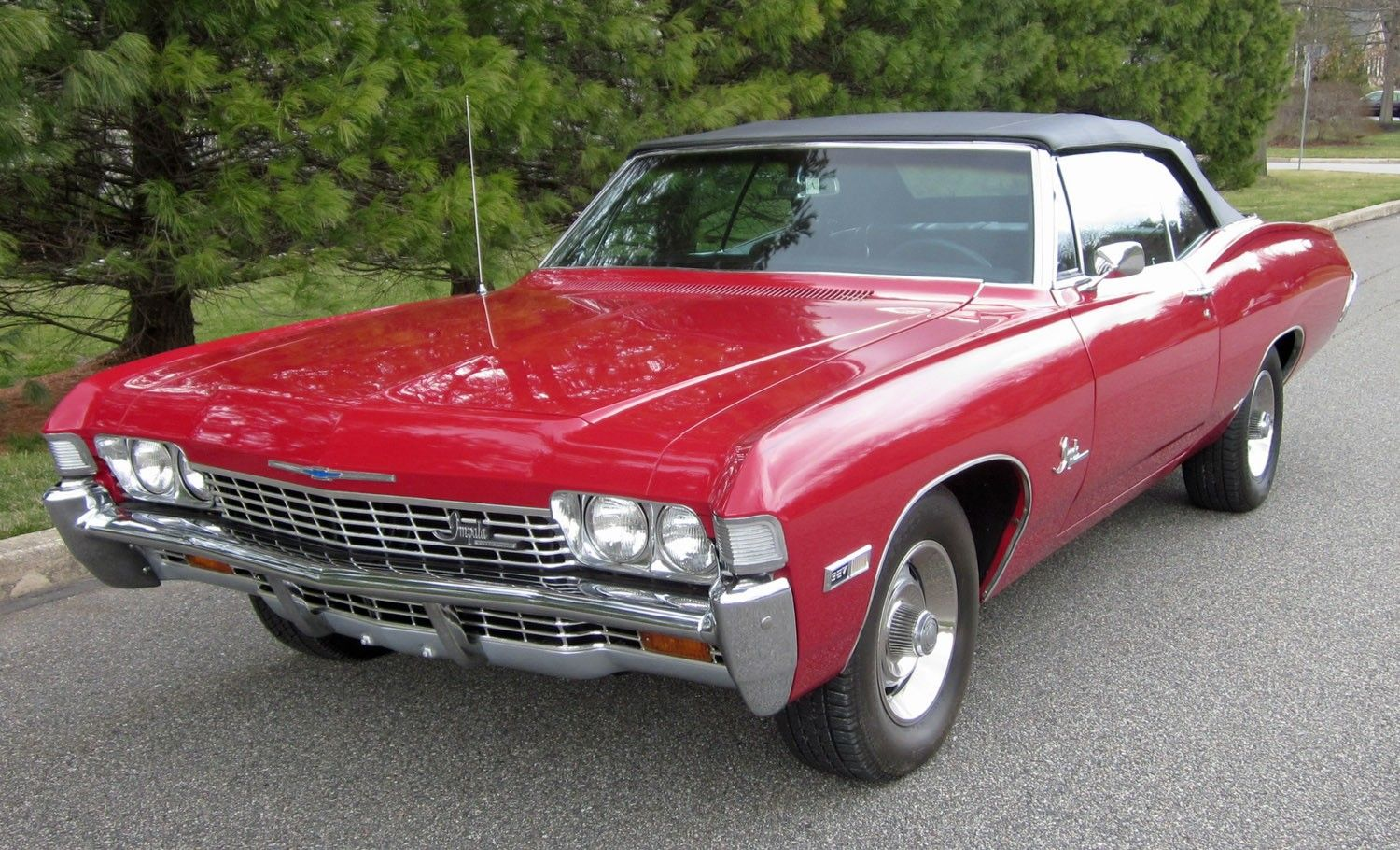 1968 chevrolet impala ss convertible red