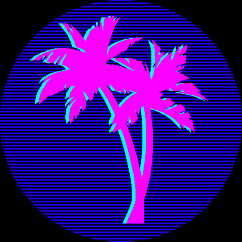 Retro 80s Palm Trees Miami Pink And Blue Hotknife Thehotknife