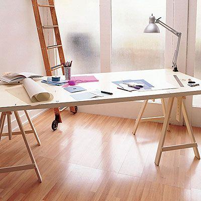 Diy Door Desk Ideas 25 creative home offices | hollow core doors, workspaces and birch