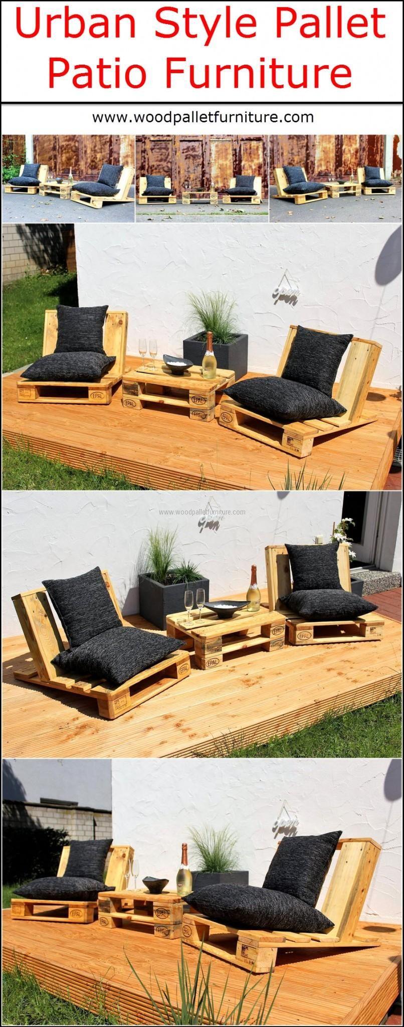 Urban Style Pallet Patio Furniture Idea
