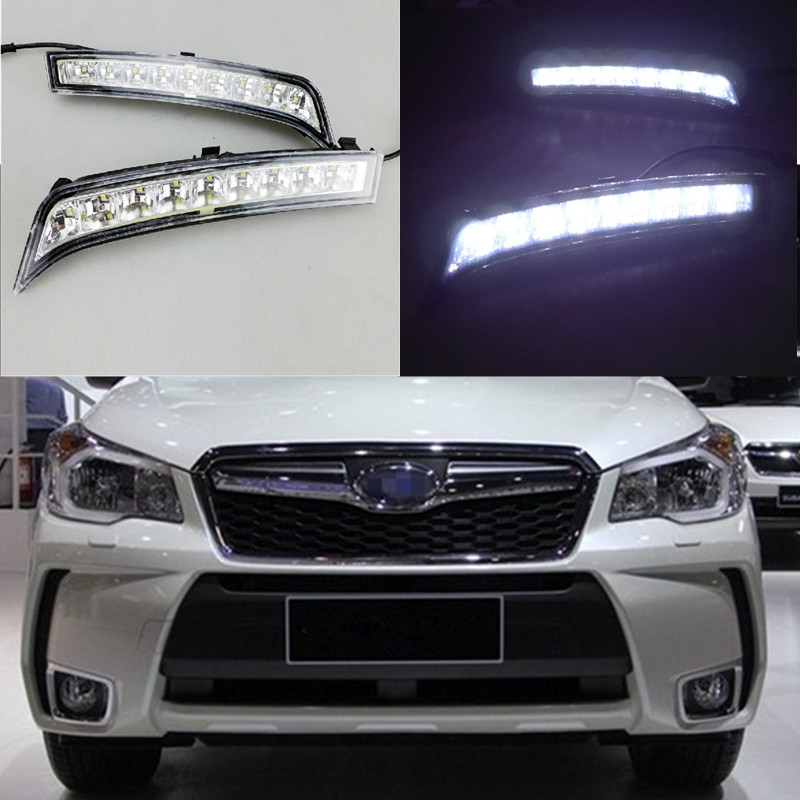 72.56$  Watch here - http://ali7cy.worldwells.pw/go.php?t=32739192324 - DRL Daytime Running Lights for Subaru Forester 2013 2014 Dimming style Relay 9 Chips Car Led light Quality Asssured
