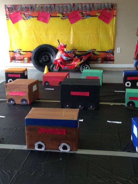 Cars As The Kids Tables To Eat On