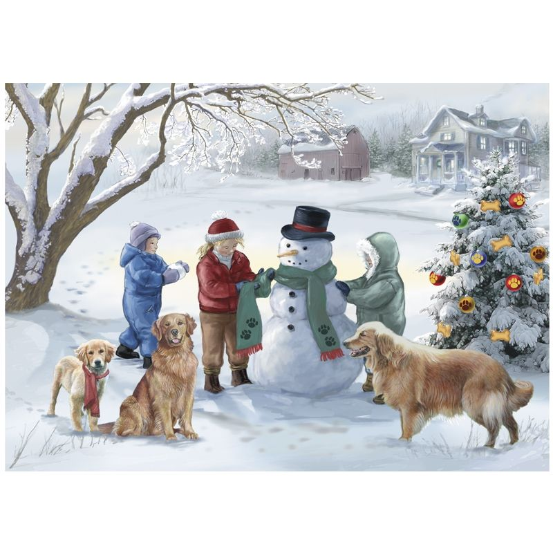 Golden Retriever Christmas Cards - The Danbury Mint | Puppy Love ...