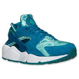 Men's Nike Air Huarache Run Running Shoes | FinishLine.com | Green  Abyss/Turbo