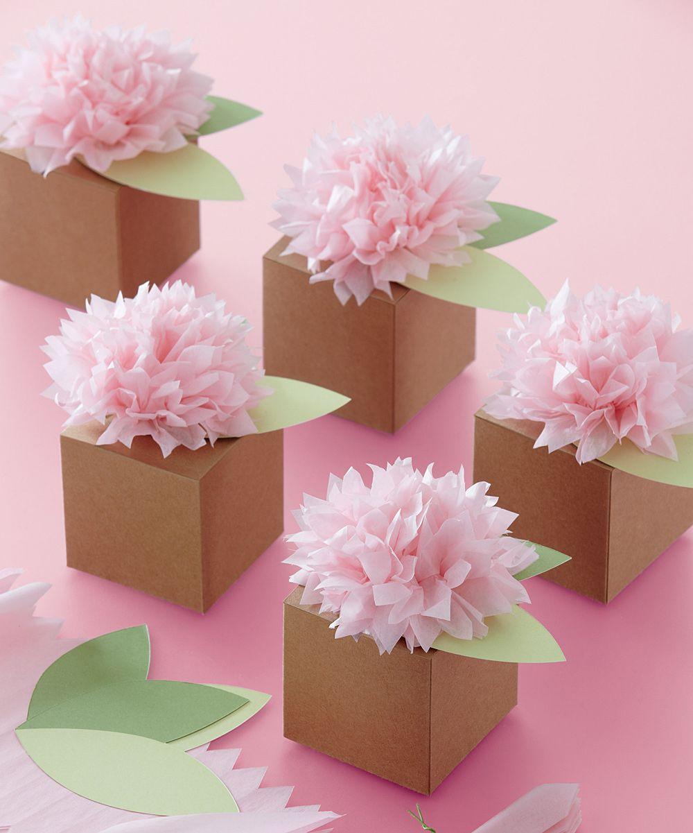 Brown Pom-Pom Flower Box - Set of Six | Daily deals for moms, babies ...