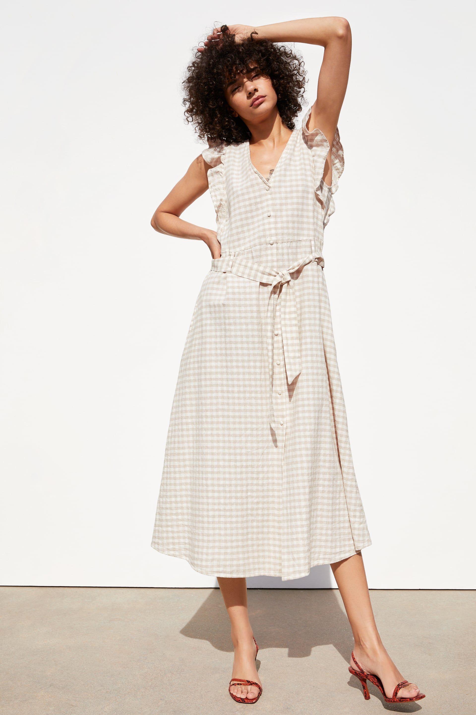 Rustic Plaid Dress View All Dresses Trf Zara United States Dresses Plaid Dress Tent Dress